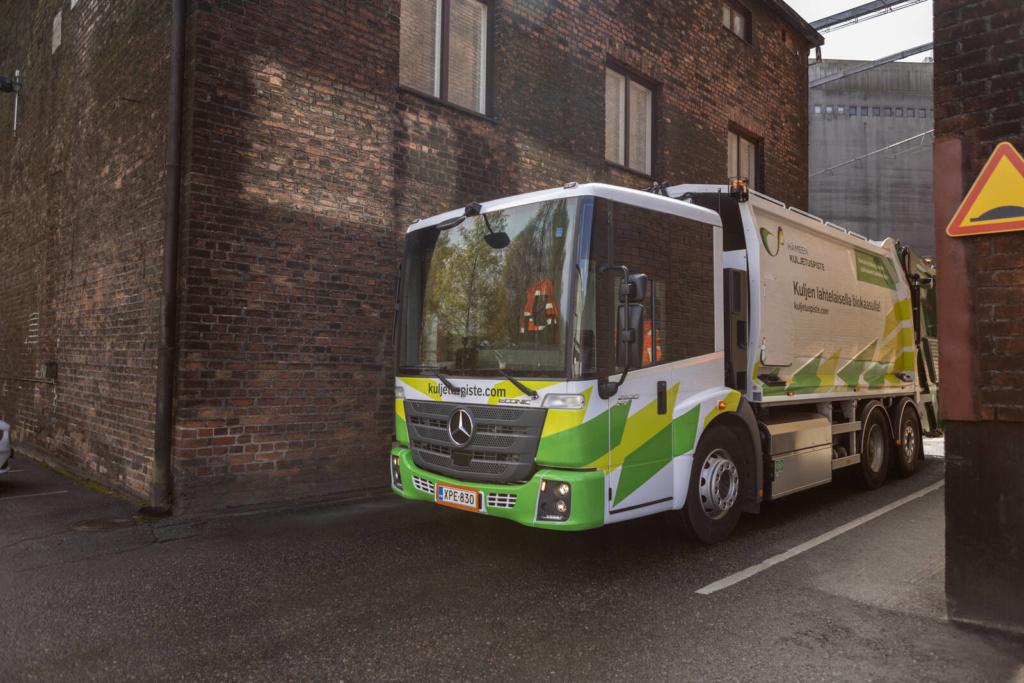 Hämeen Kuljetuspisteen biokaasuauto